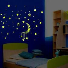 A Set Kids Bedroom Fluorescent Glow In The Dark Stars Wall Stickers Living Room