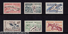France - 1953 Sports - Mounted Mint - SG 1185-90