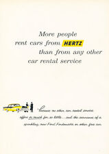 1956 Ford Hertz Rental - Vintage Advertisement Car Print Ad J391