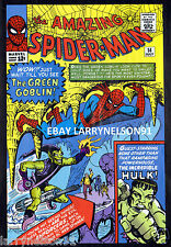AMAZING SPIDER-MAN #14 POSTER GREEN GOBLIN ENFORCERS INCREDIBLE HULK OSBORN RARE
