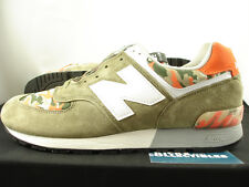 New Balance 576 Made In USA CAMO 9.5 US576CM2 green orange burn rubber 577 1600