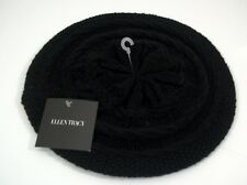 One Size Fits Most Ellen Tracy Knit Ladies Black Head Wrap Toboggan Winter Hat