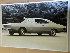 """12 By 18"""" Black & White PICTURE of 1970 Dodge Charger RT 2 door hardtop"""