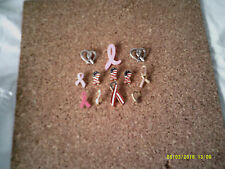 (12)  Breast Cancer Awareness Metal Ribbon Pins