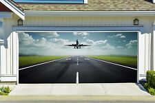 Plane Takes Off Decal for Garage Door 3D Banner Airplane Billboard Decor GD83