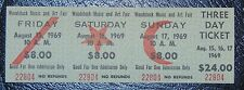 Origianal 1969 3 day Woodstock Ticket