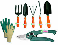 Easy Gardening - Garden Tools Kit (6Tools) + Knit Gardening Gloves