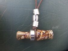 "2"" ACRYLIC CAMO MINI DUCK / GOOSE CALL NECKLACE - COMMANDER STYLE - WORKING DU"