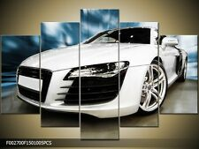 FRAMED impressive Wall decor PRINT on canvas Painting AUDI Sports car racing R8
