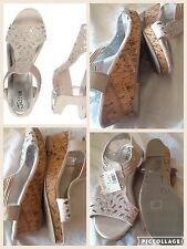 NWT justice wedge sandals for girls size 5