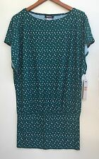 DKNY Swimming Suit Cover-up Dress Green With Pattern Size L $136