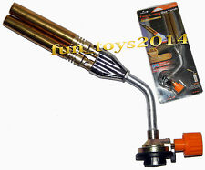 Blow torch Twin or Dual Burner Flame Gun For AC Brazing,Welding, crafts model