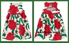 Gymboree Joyful Holiday Floral Rose Christmas Special Occasion Faux Gem Dress 3T