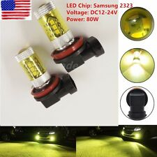 2X H8 H11 High Power 80W Samsung 2323 LED 3000k Yellow Fog Driving Lights US