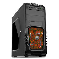 AvP STORM 27 BLACK ATX GAMING TOWER CASE USB 3.0 ORANGE LED FAN - FRONT AUDIO