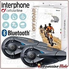 CELLULARLINE INTERPHONE OFFROAD F5 HELMET MOTORCYCLE INTERCOM BLUETOOTH TWINPACK