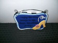 Blue 3 Dimensional Hanging Plaque Wall Sign I Enjoy the Little Things in Life