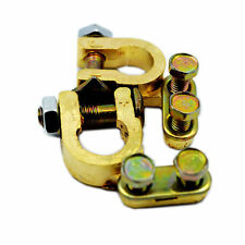BATTERY TERMINAL CONNECTOR PAIR BRASS CLAMP POSITIVE AND NEGATIVE 9CN