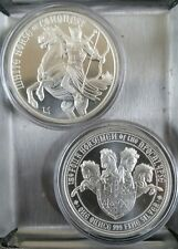 Four Horsemen of the Apocalypse 1 oz 999 Silver white horse of conquest headless