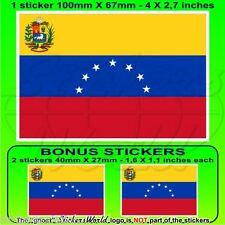 VENEZUELA Former State Flag (7 star) Venezuelan 100mm Sticker-Decal x1+2 BONUS
