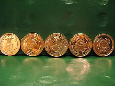 US Armed Forces Copper Round Set 1 oz .999 Copper Coins (5 Total Rounds)