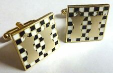 Chess Queen King Checkmate Board Game Rook Knight Pawn Bishop Cufflinks Set Pair