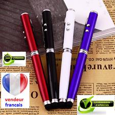 4 en 1, très jolie stylet/stylo, avec laser et lampe LED, couleur noir ;