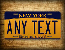"New York Personalized License Plate ""Any Text"" Custom Customized Auto Tag Sign"