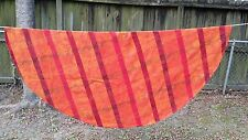 "ORANGE YELLOW RED PUMPKIN FLORAL PLAID  ROUND 60"" TABLECLOTH  FREE SHIPPING"
