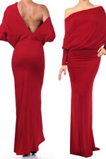 Red Convertible Long Bodycon Dress Club Wear Fashion Evening Wear Size ONE SIZE