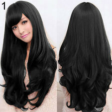 Women Long Curly Wavy Full Wig Heat Resistant Hair Cosplay Party Lolita Grace