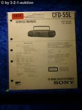 Sony Service Manual CFD 55L Cassette Recorder (#3431)