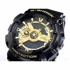-NEW- Casio Black & Gold G-Shock Watch GA110GB-1A