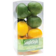 "Design It Simple Decorative Fruit 13/Pkg  Mini Lemons and Limes 1.34""x1.5"" ~ NIB"