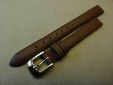 New Brown Speidel Genuine Fine Grain Cowhide Leather 11mm Watch Band $9.95 MSRP