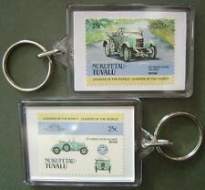 1913 MORRIS OXFORD Bullnose Car Stamp Keyring (Auto 100 Automobile)
