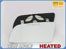 Wing Mirror Glass BMW SERIES 5 E60 2003-08 Wide Angle HEATED Left Side #B006