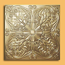 Styrofoam Ceiling Tile - ASTANA Gold Tin - Look Glue Up Easy Instalation