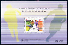 Macau 1998 World Cup Football Souvenir Sheet Stamps Mint NH