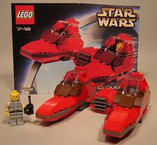 LEGO STAR WARS TWIN POD CLOUD CAR SET #7119 LOOSE AND MINT RETIRED FROM 2002