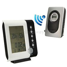 Wireless Weather Station LCD Digital Indoor Outdoor Temperature Humidity Sensor