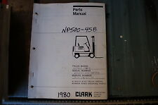 CLARK NP500-45B Forklift Parts Manual book catalog list spare 1980 LIFT TRUCK