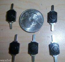 Mini Push Button Latching On Off Switches (5) weatherproof 30v Ship USA