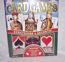 CARD GAMES PLAY TO WIN STRATEGIES & SECRETS-CARDS-HOLDERS BOOK-: NEW - FOR 10 +