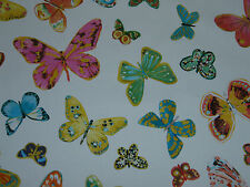 "SCHUMACHER CURTAIN FABRIC DESIGN ""Butterfly"" 1.2 METRES MULTI BY LULU DK"