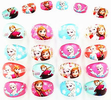 20Ps Wholesale Mixed Lots Cartoon Girls Princess Children Resin Lucite Rings New
