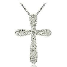 Crystal Cross Necklace with Swarovski Elements