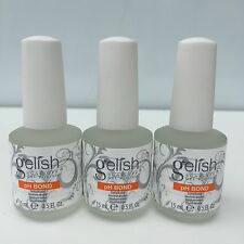 LOT 3- Harmony Gelish PH BOND Dehydrator Nail Prep Soak off Gel Colors 0.5 oz