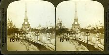 The perfec-Stereograph Photo Tour Eiffel Expo 1900 palais de l'électricité