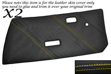 Yellow Stitch 2x Porta Carte CUOIO PELLE copre gli accoppiamenti FIAT X1 / 9 X19 73-89